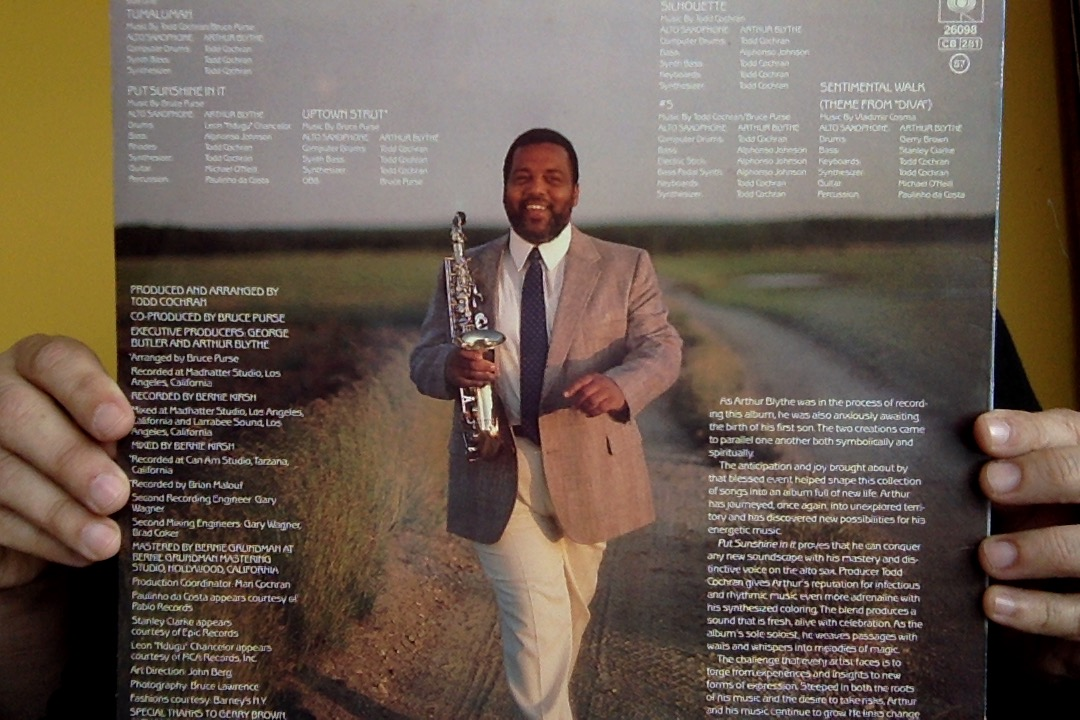 Arthur Blythe - Put Sunshine In It - back cover