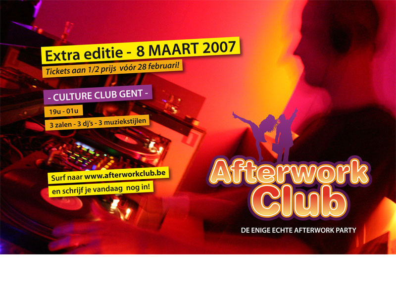 AfterWork Club @ Culture Club - advertentie voor Zone 09